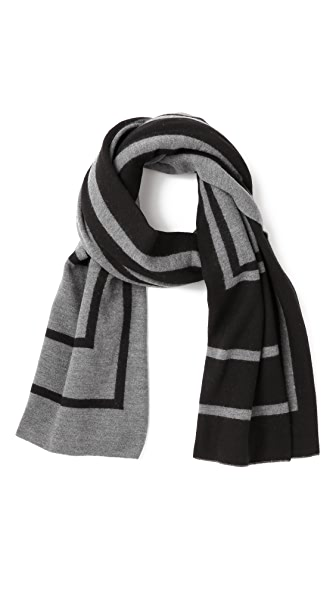 Vince Double Jacquard Blanket Scarf