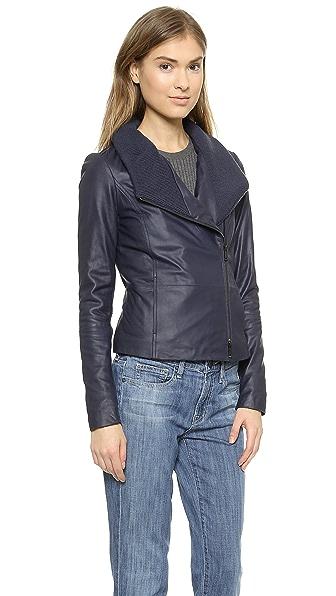 Vince Rib Scuba Collar Jacket