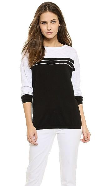Vince Stripe Yoke Sweater
