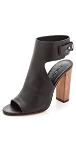 Addie Open Toe Booties                Vince