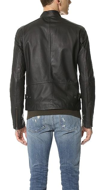 Vince Essential Moto Leather Jacket