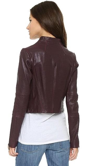 Vince Asymmetric Leather Jacket