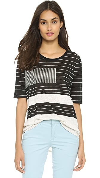Vince Abstract Lines Top