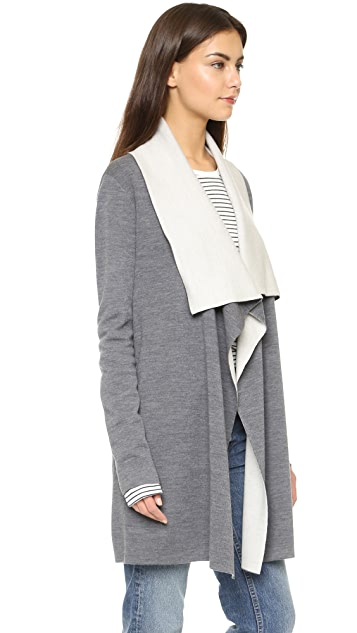 Vince Two Tone Drape Cardigan
