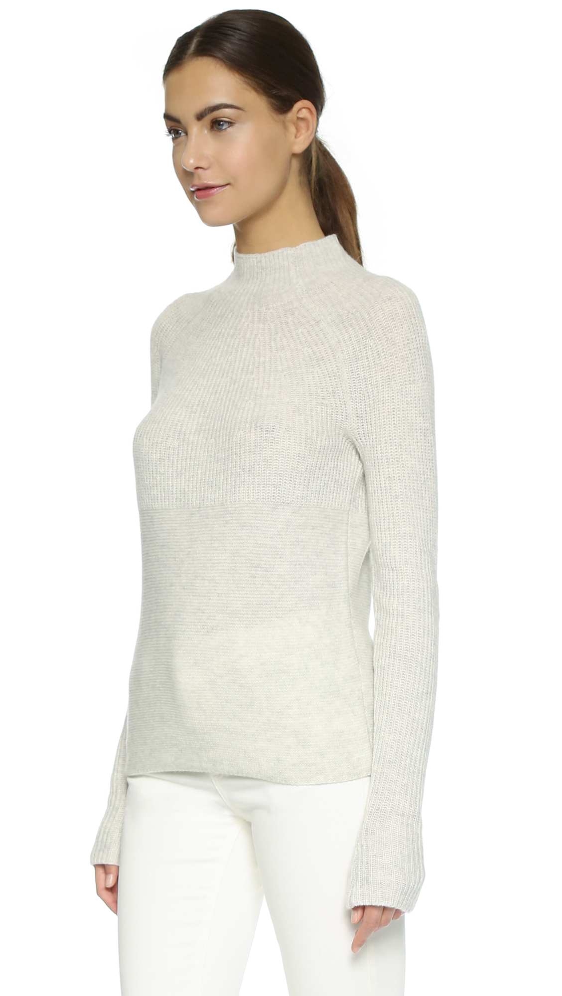 Vince Directional Rib Cashmere Sweater   SHOPBOP