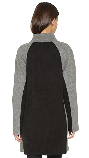 Vince Two Tone Sweater Coat