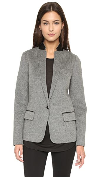 Vince Leather Trim Blazer
