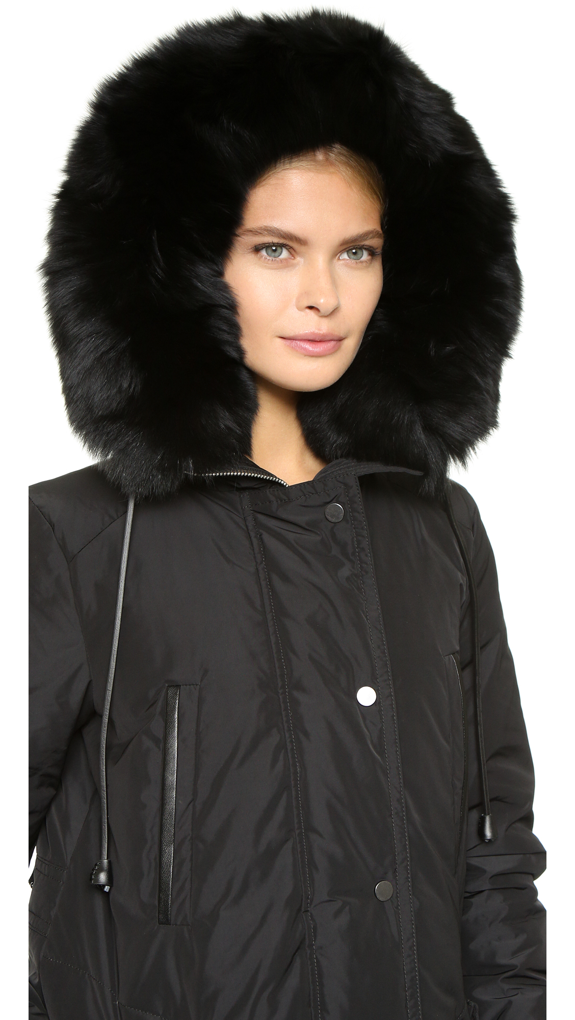 df131236a287 Vince Fur Trim Hooded Parka
