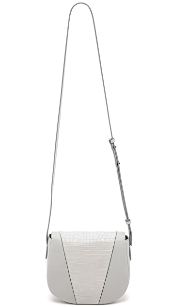 Vince Embossed Cross Body Saddle Bag