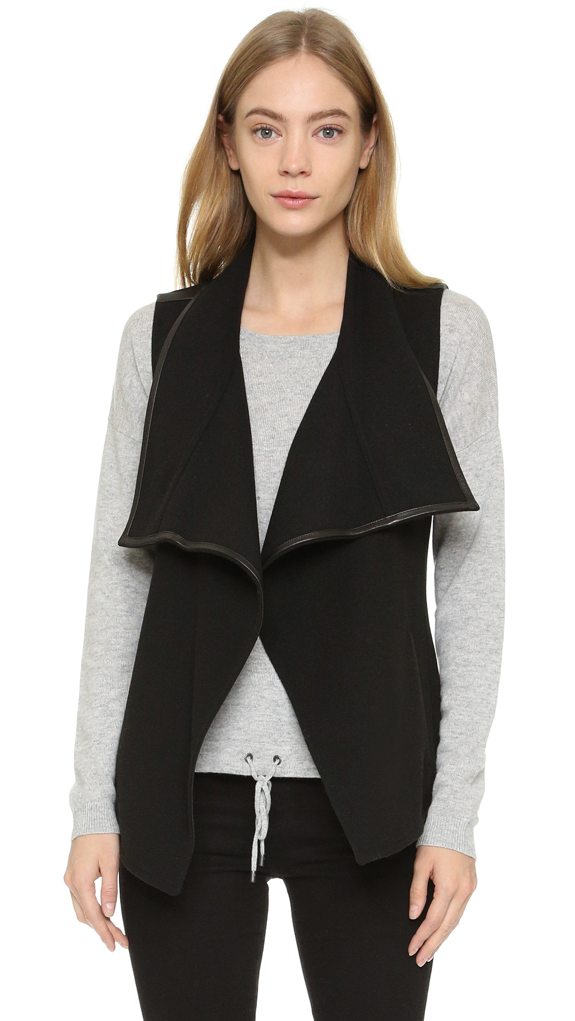 Leather VestShopbop Vince Trim Vince Trim VestShopbop Leather Trim Leather Vince tCshQrd