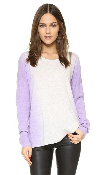 Vince Vertical Dip Dye Crew Sweater