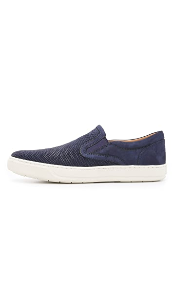 Vince Ace Snake Print Slip On Sneakers