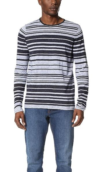 Vince Sporty Jaspe Stripe Crew Sweater