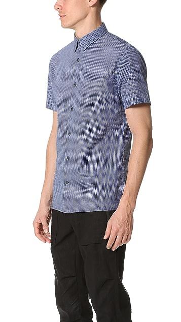Vince Square Hem Short Sleeve Shirt