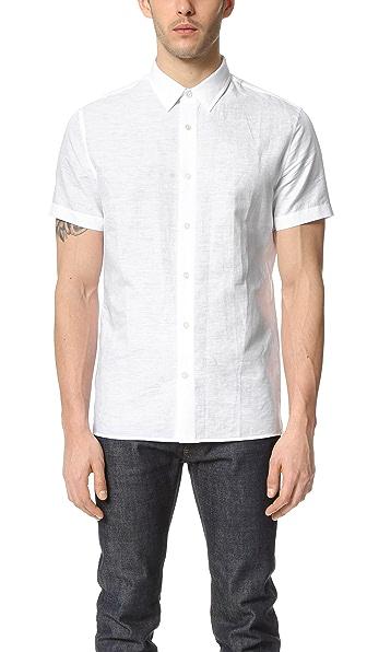 Vince Melrose Linen Short Sleeve Shirt