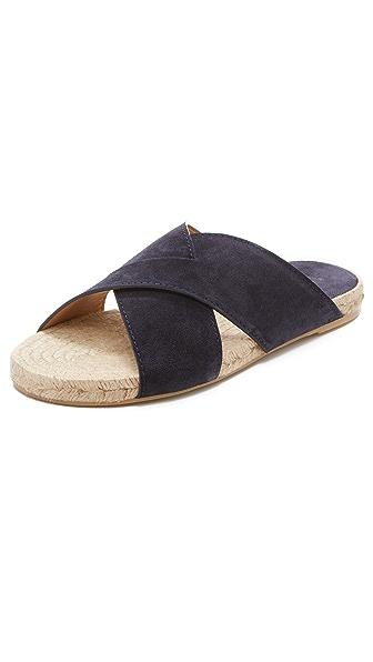 Vince Pete Cross Strap Slide Sandals