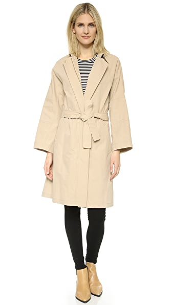 Vince Belted Trench Coat - Marzipan
