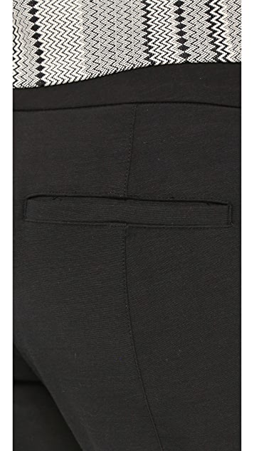 Vince Fitted Pintuck Trousers