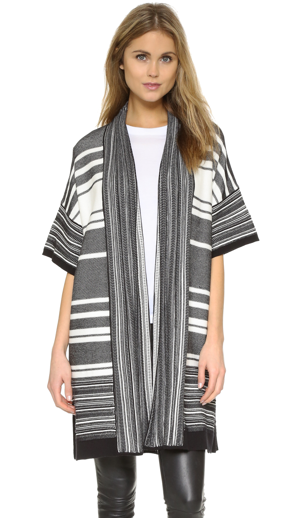 Vince Multi-Stripe Cardigan Sweater | SHOPBOP
