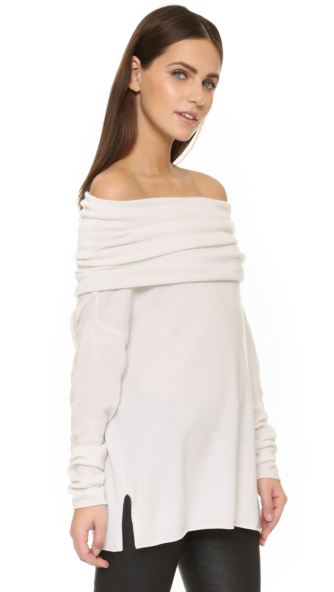 Vince Off Shoulder Cashmere Pullover | SHOPBOP