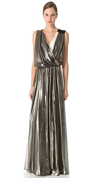 Vionnet Long Dress with V Neck