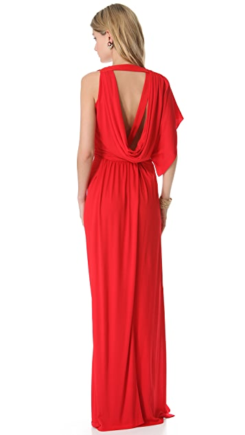 Vionnet Asymmetrical V-Neck Gown