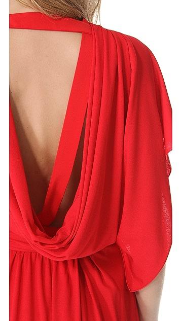 Vionnet Asymmetrical V-Neck Gown