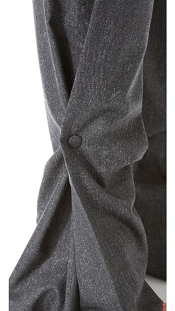 Vionnet Wide Leg Snap Pants