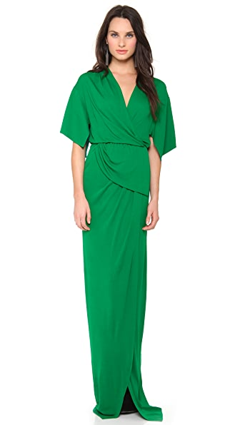 Vionnet Short Sleeve Gown
