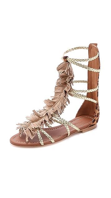 Visconti & Du Reau Cuba Fringe Gladiator Sandals
