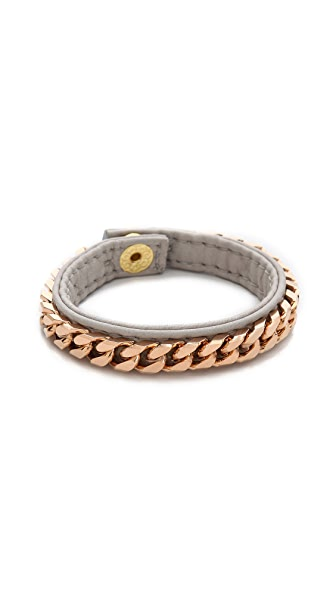 Vita Fede Monaco Single Bracelet In Grey/Rose Gold
