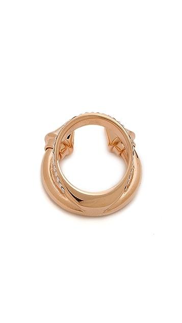 Vita Fede Titan Plain Double Crystal Band Ring