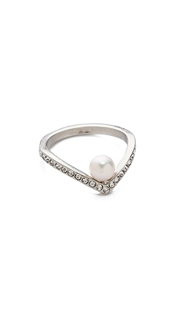 Vita Fede Ultra Mini V Crystal Ring