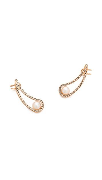 Vita Fede Teardrop Cutout Earrings