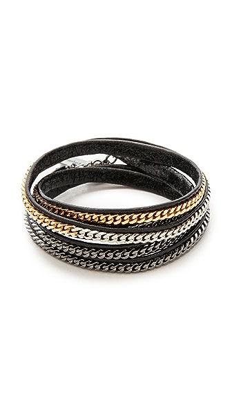 Vita Fede Capri 5 Wrap Bracelet In Black/Multi