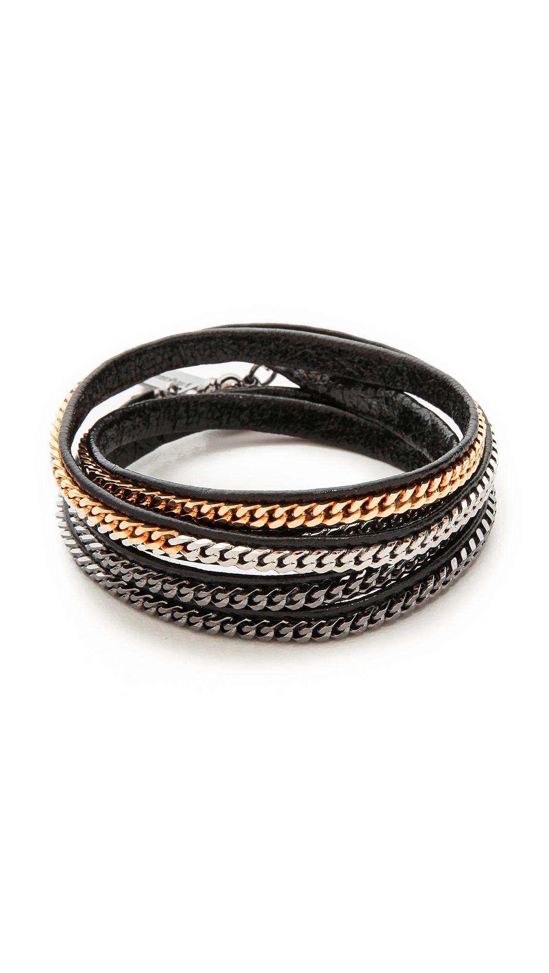 Vita Fede Capri 5 Wrap Bracelet - Black/Multi