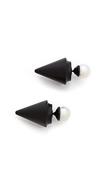 Vita Fede Double Titan Cultured Pearl Earrings