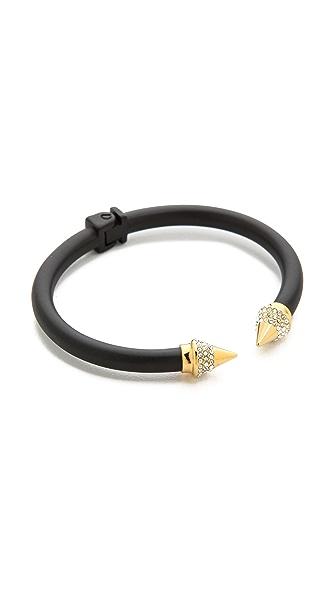 Vita Fede Mini Titan Two Tone Crystal Bracelet - Matte Black/Gold