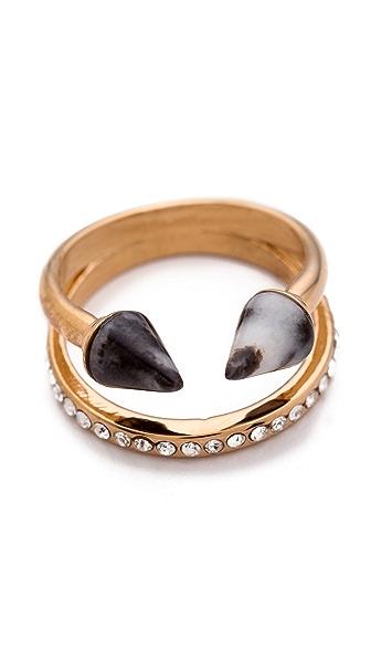 Vita Fede Ultra Mini Titan Stone & Crystal Ring