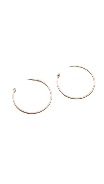 Vita Fede Large Hoop Earrings with Crystal Cones