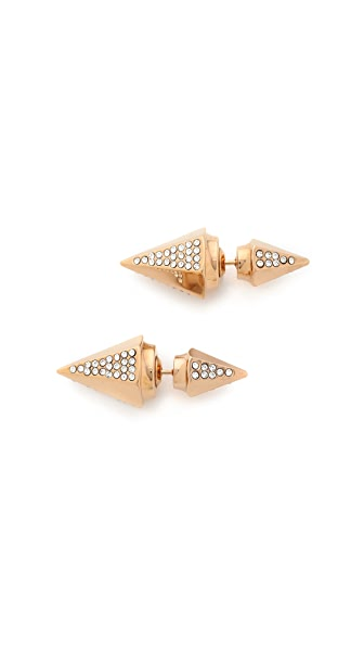 Vita Fede Titan Double Hexagon Crystal Earrings