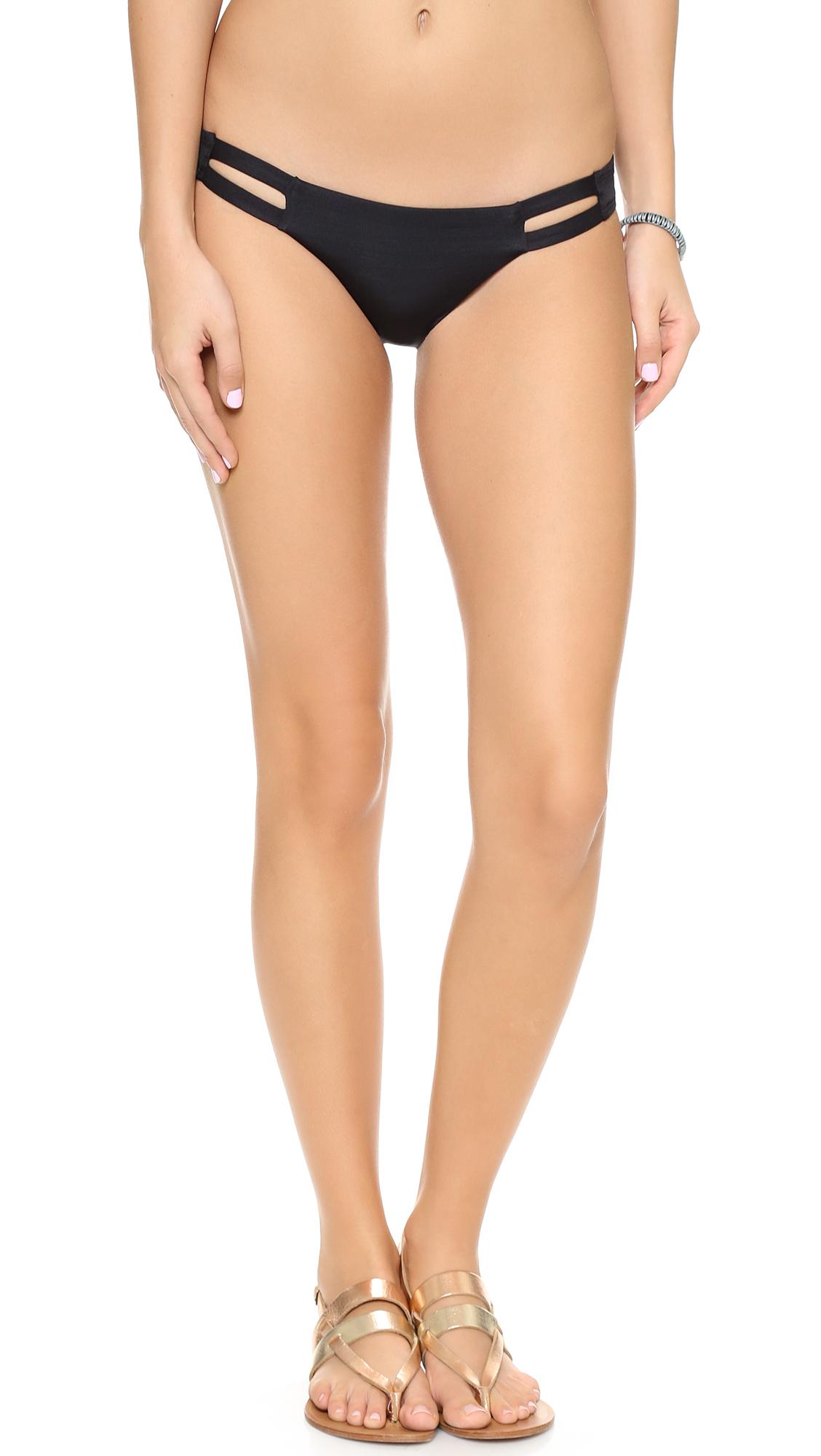 Vitamin A Neutra Hipster Bikini Bottom In Black