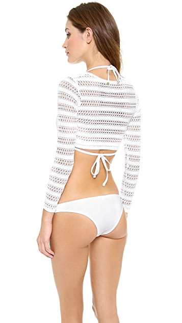 Vitamin A Cannes Cropped Rash Guard