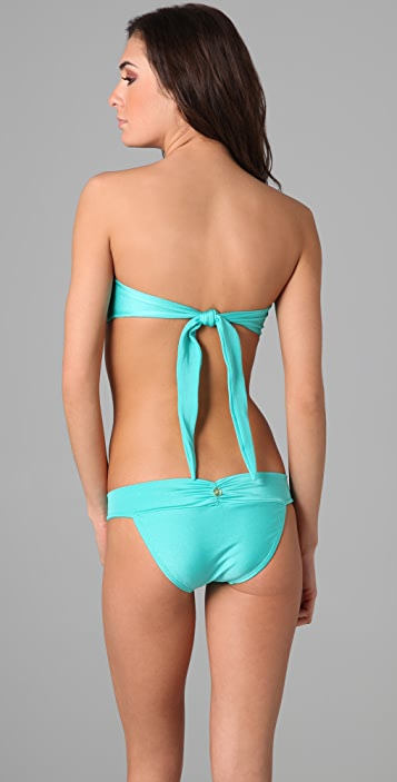 ViX Swimwear Solid Twist Bandeau Bikini Top
