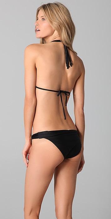 ViX Swimwear Solid Bia Logo Bikini Top