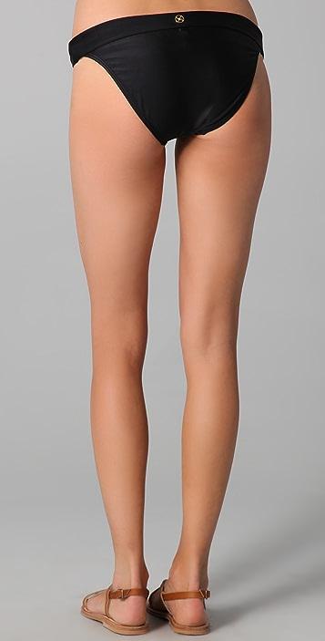 ViX Swimwear Solid Bia Logo Bikini Bottoms