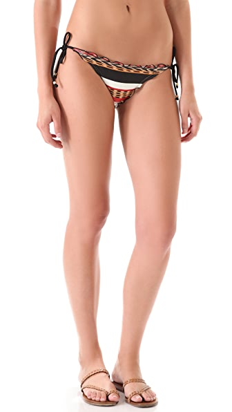 ViX Swimwear Angola Tie Bikini Bottoms with Ripple Detail