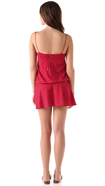 ViX Swimwear Solid Joy Short Cover Up Dress