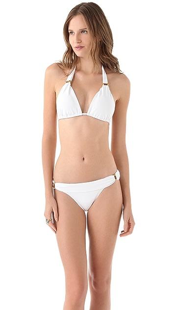 ViX Swimwear Solid White Bikini Top