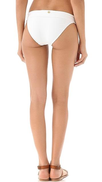 ViX Swimwear Solid White Bikini Bottoms